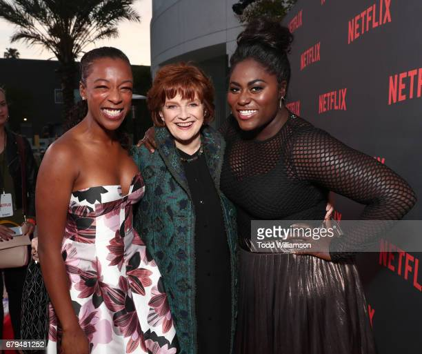 Samira Wiley Blair Brown and Danielle Brooks attend a Netflix's 'Orange Is The New Black' For Your Consideration Event at Saban Media Center on May 5...