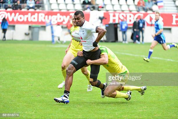 Samisoni Viriviri of Fiji during the HSBC PARIS SEVENS tournament at Stade Jean Bouin on May 15 2016 in Paris France