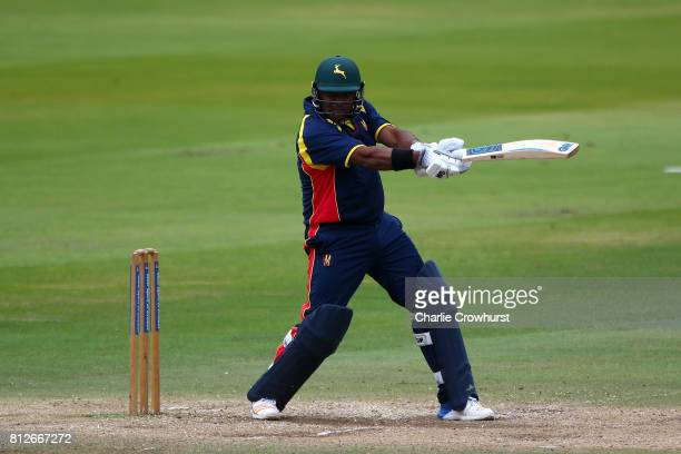 Samit Patel of MCC hits out during the MCC v Afghanistan cricket match at Lord's Cricket Ground on July 11 2017 in London England