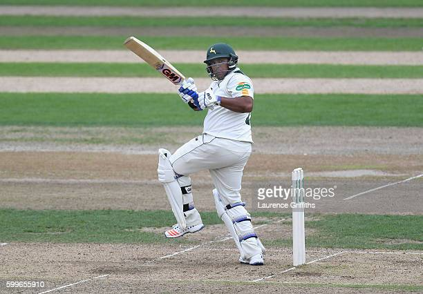 Samit Patel of Nottinghamshire in action during Day One of the LV County Championship match between Nottinghmashire and Middlesex at Trent Bridge on...