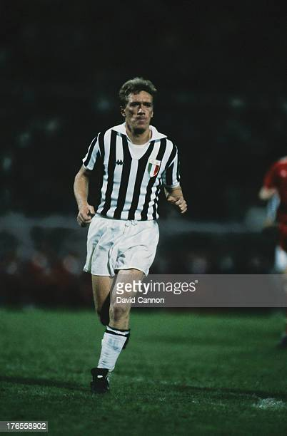 Sammarinese footballer Massimo Bonini of Juventus during the European Cup Final against Liverpool at Heysel Stadium Brussels 29th May 1985 Juventus...