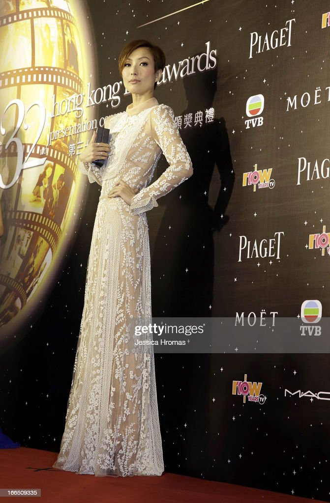 Sammi Cheng wins best dressed woman at the 2013 Hong Kong Film Awards on April 13, 2013 in Hong Kong, Hong Kong.