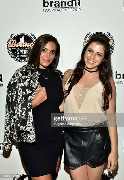 Sammi Giancola and Clare Galterio attend the Bounce Sporting Club Celebrates Its 5th Anniversary at Bounce Sporting Club on September 20 2016 in New...