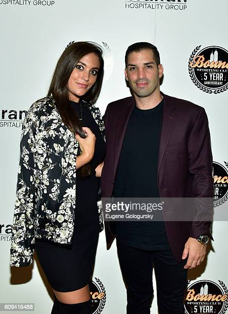 Sammi Giancola and Cole Bernard attend the Bounce Sporting Club Celebrates Its 5th Anniversary at Bounce Sporting Club on September 20 2016 in New...
