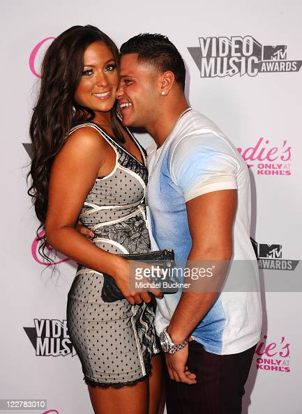 Sammi Giancola and Ronnie OrtizMagro arrives at the Candie's 2011 MTV Video Music Awards After Party at The Colony on August 28 2011 in Los Angeles...