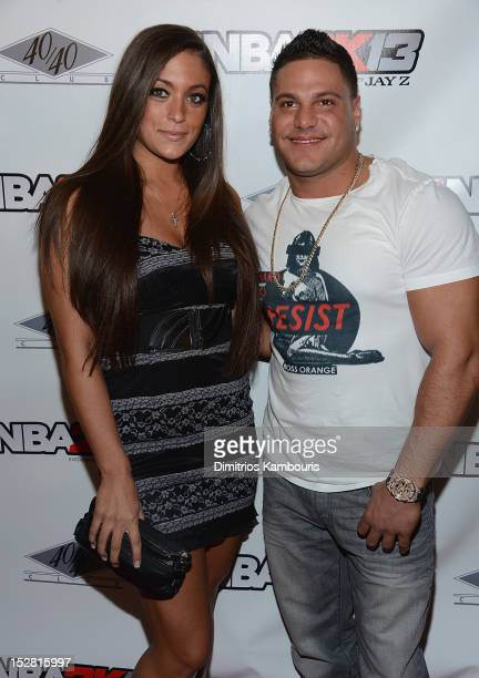 Sammi Giancola and Ronnie OrtizMagro attend 'NBA 2K13' Premiere Launch Party at 40 / 40 Club on September 26 2012 in New York City