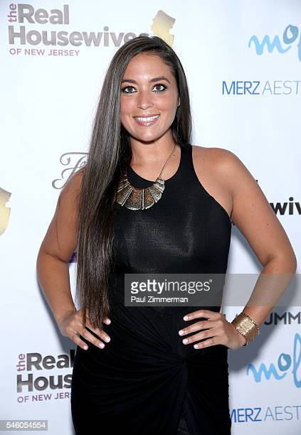 Sammi Giancola attends the 'Real Housewives Of New Jersey' Season 7 Premiere Party at Molos on July 10 2016 in Weehawken New Jersey