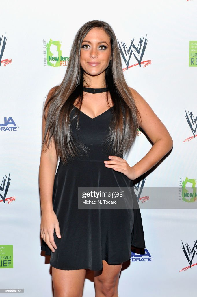 Sammi Giancola attends WWE Superstars for Sandy Relief at Cipriani, Wall Street on April 4, 2013 in New York City.