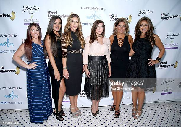 Sammi Giancola Deena Nicole Cortese Siggy Flicker Jacqueline Laurita Kathy Wakile and Dolores Catania attend the 'Real Housewives Of New Jersey'...