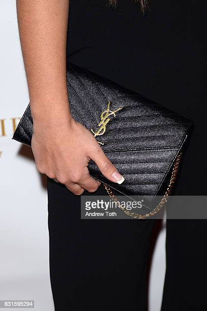 Sammi Giancola handbag detail attends the 80th annual YMA Fashion Scholarship Fund Geoffrey Beene National Scholarship awards at Grand Hyatt New York...