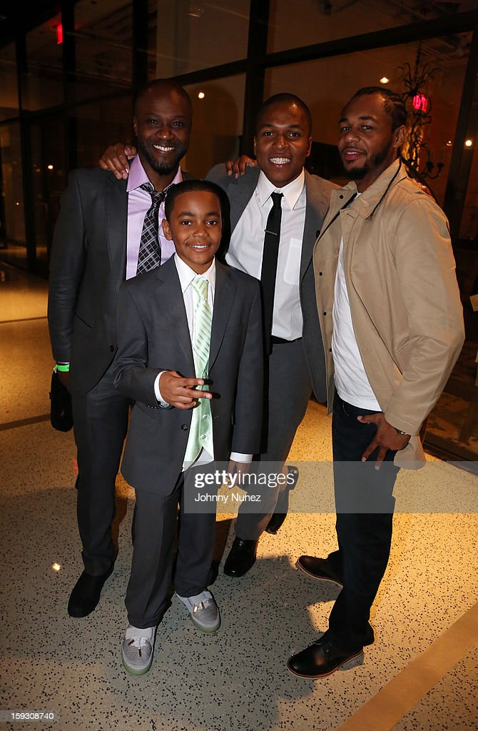 Sammi Rotibi, Michael Rainey Jr., Sheldon Candis, and Hayward Armstrong attend the Los Angeles premiere screening of 'LUV' at Pacific Design Center on January 10, 2013 in West Hollywood, California.