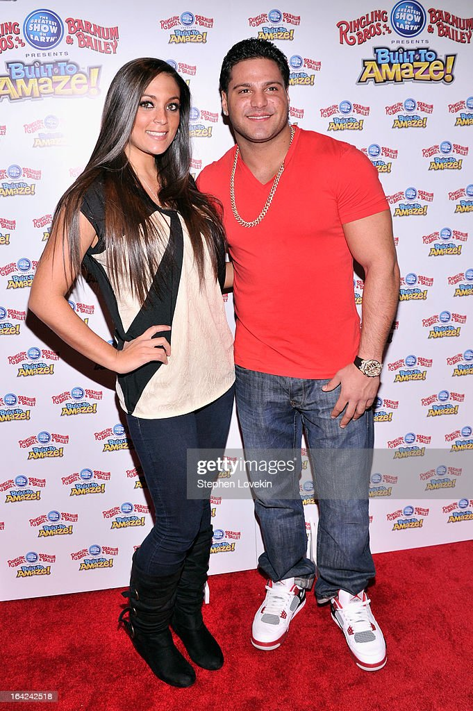 Sammi 'Sweetheart' Giancola and Ronnie Magro attend Ringling Bros And Barnum Bailey Present Built To Amaze on March 21 2013 in New York City