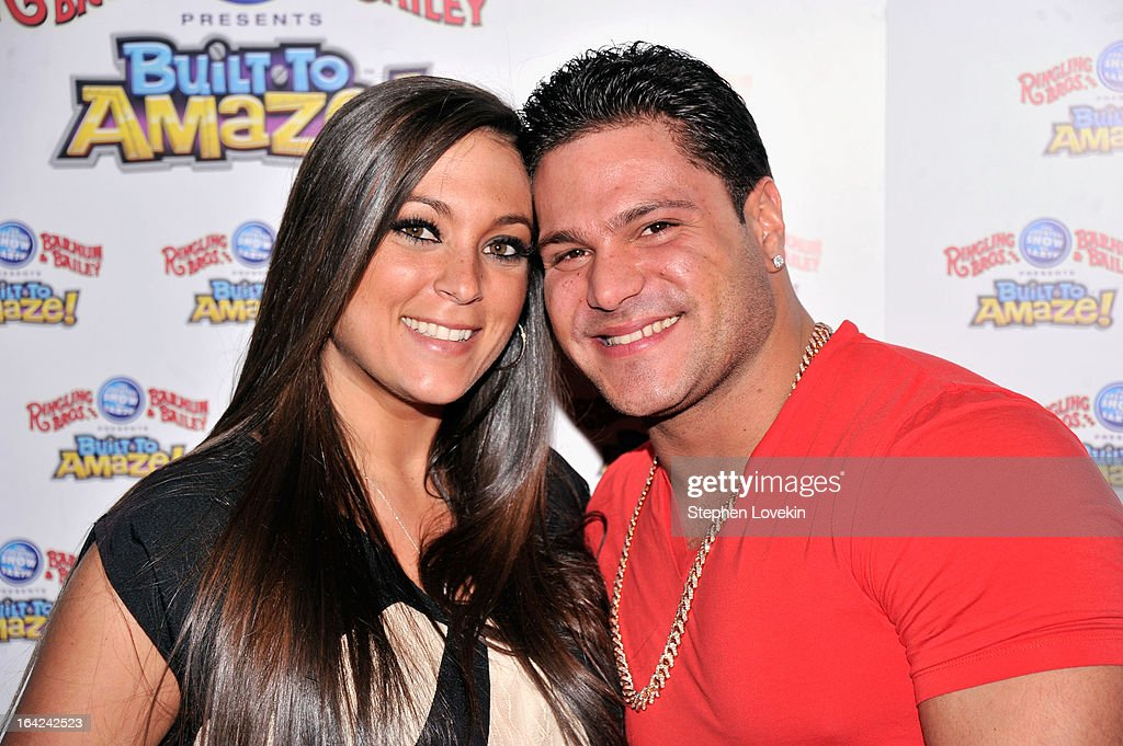 Sammi 'Sweetheart' Giancola and <a gi-track='captionPersonalityLinkClicked' href=/galleries/search?phrase=Ronnie+Magro&family=editorial&specificpeople=6755919 ng-click='$event.stopPropagation()'>Ronnie Magro</a> attend Ringling Bros. And Barnum & Bailey Present Built To Amaze! on March 21, 2013 in New York City.