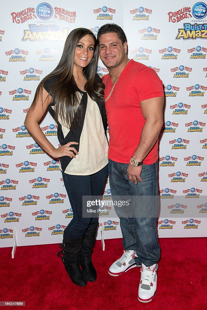 Sammi 'Sweetheart' Giancola and Ronnie Margo attend the Ringling Bros. and Barnum & Bailey 'Build To Amaze!' Opening Night at Barclays Center on March 21, 2013 in the Brooklyn borough of New York City.