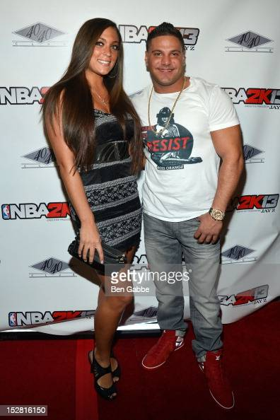 Sammi 'Sweetheart' Giancola and Ronnie OrtizMagro attend the 'NBA 2K13' Launch at the 40 / 40 Club on September 26 2012 in New York City