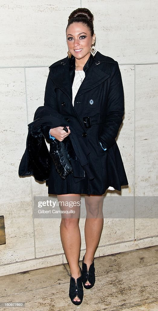 Sammi 'Sweetheart' Giancola attends Fall 2013 Mercedes-Benz Fashion Show at The Theater at Lincoln Center on February 8, 2013 in New York City.