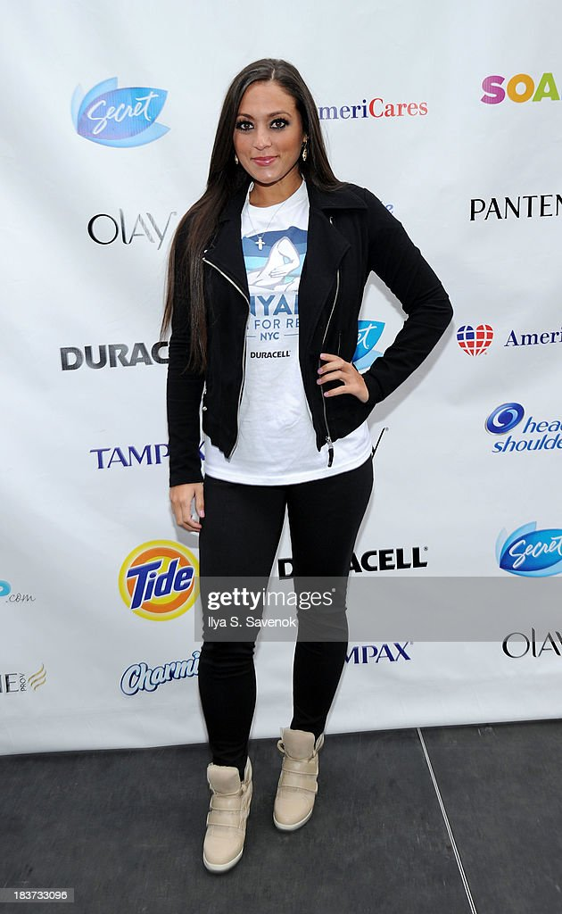 Sammi 'Sweetheart' Giancola attends 'Swim for Relief' Benefiting Hurricane Sandy Recovery - Day 2 at Herald Square on October 9, 2013 in New York City.
