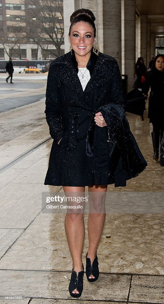 Sammi 'Sweetheart' Giancola attends the Fall 2013 Mercedes-Benz Fashion Show at The Theater at Lincoln Center on February 8, 2013 in New York City.