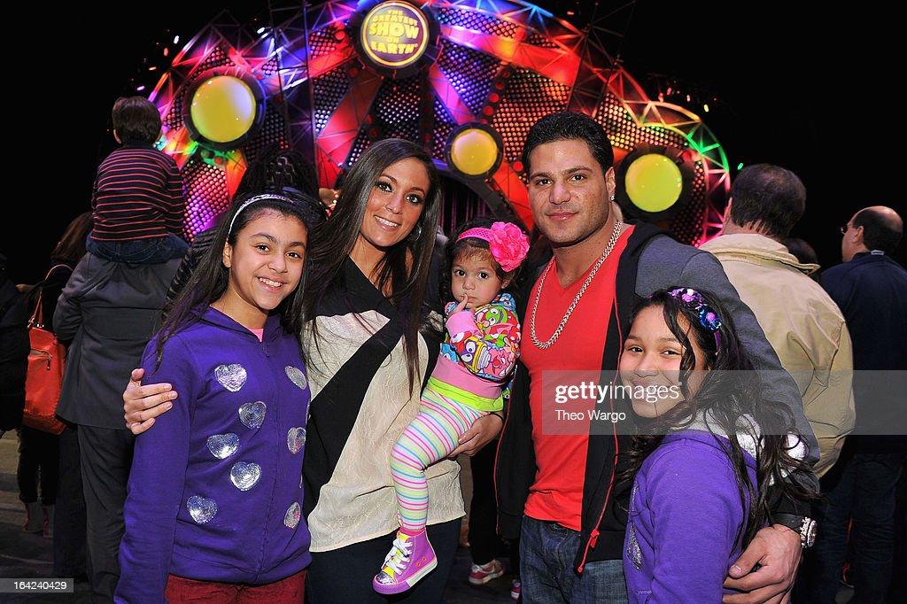 Sammi 'Sweetheart' Giancola, Ronnie Magro and guests attend Ringling Bros. And Barnum & Bailey Present Built To Amaze! on March 21, 2013 in New York City.