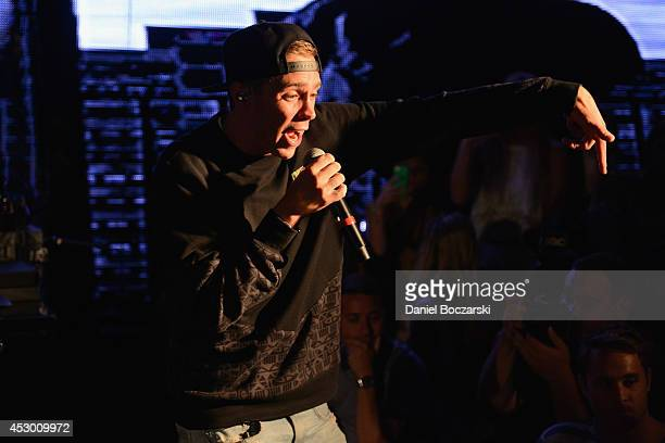 Sammy Adams performs during Lollapalooza Weekend at The Underground on July 31 2014 in Chicago Illinois