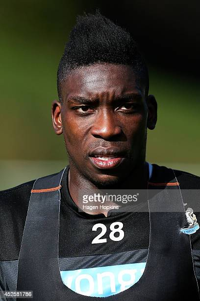 Sammy Ameobi looks on during a Newcastle United training session at Newtown Park on July 24 2014 in Wellington New Zealand