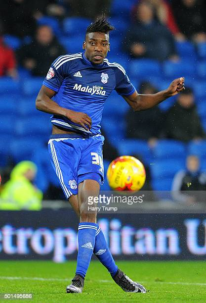 Sammy Ameobi of Cardiff City during the Sky Bet Championship match between Cardiff City and Brentford at the Cardiff City Stadium on December 15 2015...