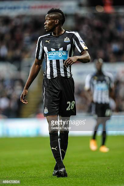 Sammy Ameobi of Newcastle during the Barclays Premier League match between Newcastle United and Queens Park Rangers at StJames' Park on November 22...