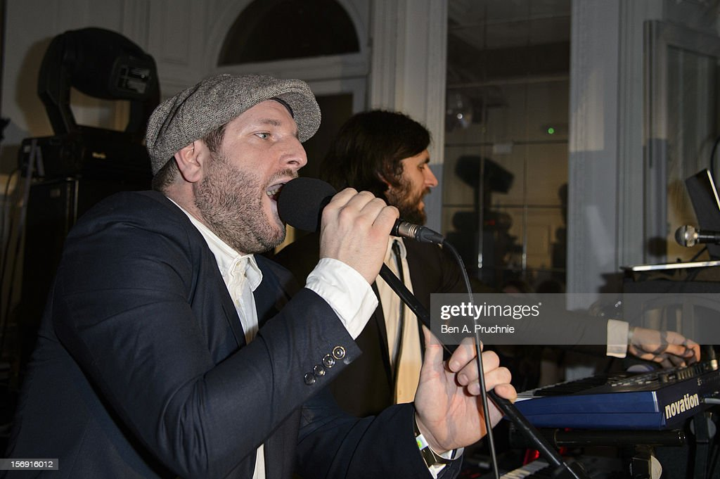 Sammy D of Pillow Talk performs during the Cuckoo Club and Show Pony pop up club at Grosvenor Place on November 24, 2012 in London, England.