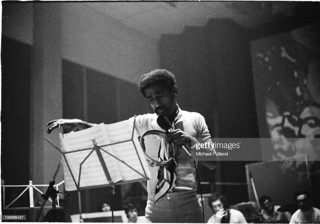 Sammy Davis Jnr recording at Olympic Studios, Barnes, London, 4th September 1969.