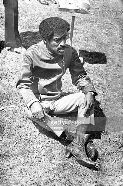 Sammy Davis Junior sulks after his tiff with Director Jerry Lewis on location of 'One More Time' at Eastnor Castle Ledbury Circa 1st August 1969