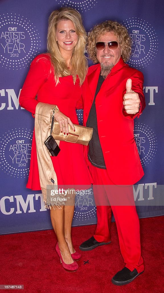 <a gi-track='captionPersonalityLinkClicked' href=/galleries/search?phrase=Sammy+Hagar&family=editorial&specificpeople=209168 ng-click='$event.stopPropagation()'>Sammy Hagar</a> and Kari Hagar attend the CMT Artist of the Year Awards at The Factory At Franklin on December 3, 2012 in Franklin, Tennessee.