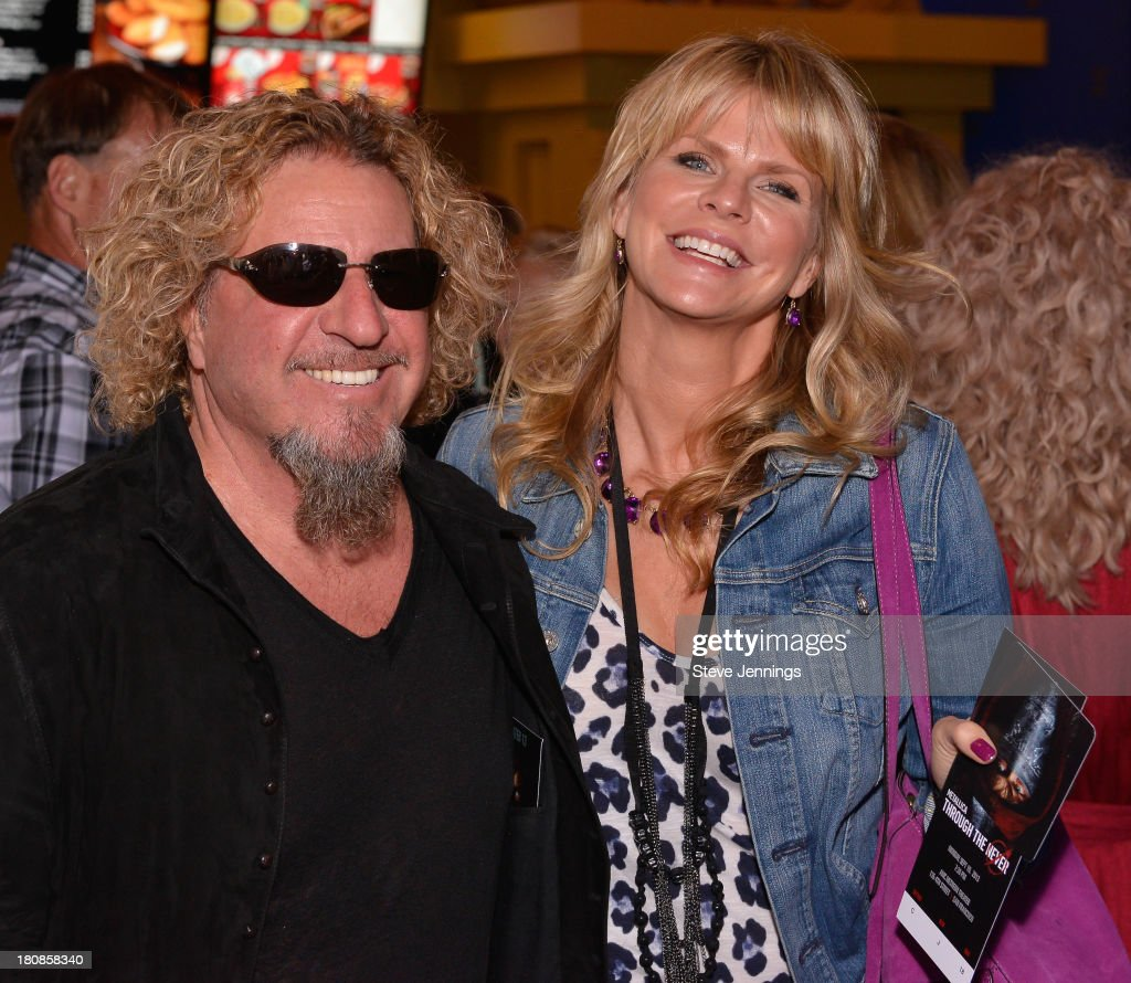 <a gi-track='captionPersonalityLinkClicked' href=/galleries/search?phrase=Sammy+Hagar&family=editorial&specificpeople=209168 ng-click='$event.stopPropagation()'>Sammy Hagar</a> and Kari Karte (L-R) attend the San Francisco Premiere of 'Metallica: Throught The Never' at AMC Metreon 16 on September 16, 2013 in San Francisco, California.