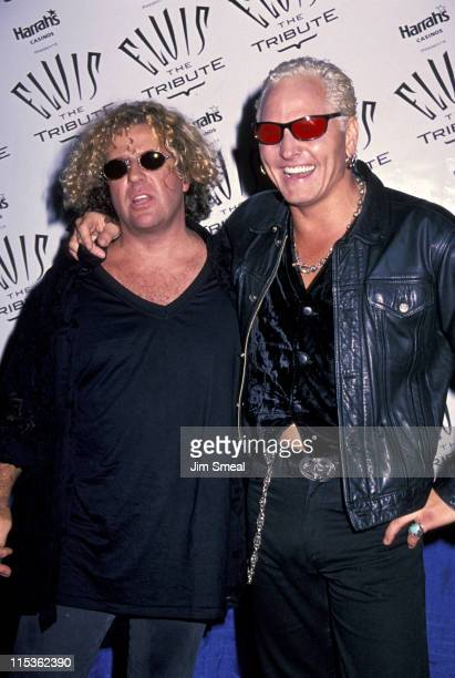 Sammy Hagar and Matt Sorum during 'Elvis the Tribute' at Pyramid Arena in Memphis Tennessee United States