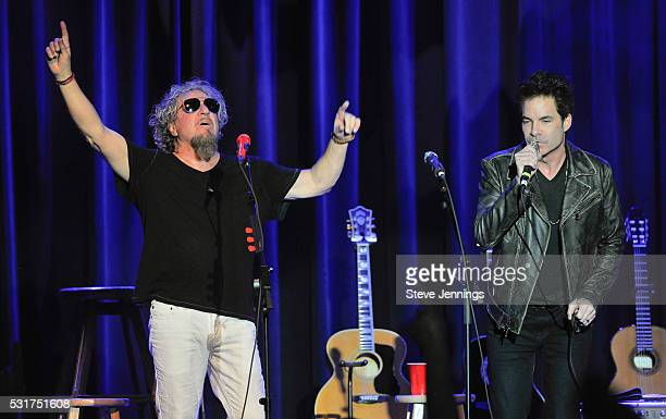 Sammy Hagar and Pat Monahan of Train perform at the 3rd Annual Acoustic4ACure concert a Benefit for the Pediatric Cancer Program at UCSF Benioff...