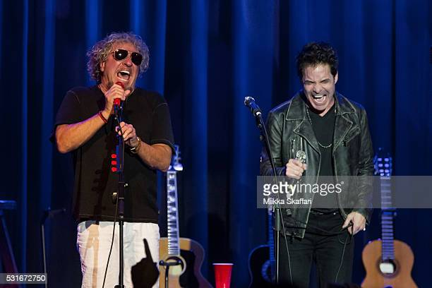 Sammy Hagar and Pat Monahan performs at 3rd annual Acoustic4aCure benefit concert at The Fillmore on May 15 2016 in San Francisco California