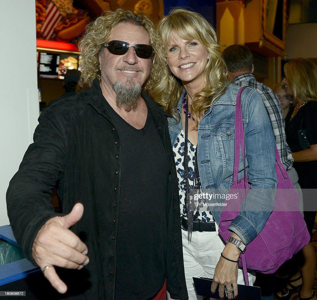Sammy Hagar (L) ans wife Kari Hagar attend the U.S. Premiere of Metallica Through The Never at the AMC Metreon on September 16, 2013 in San Francisco, California.