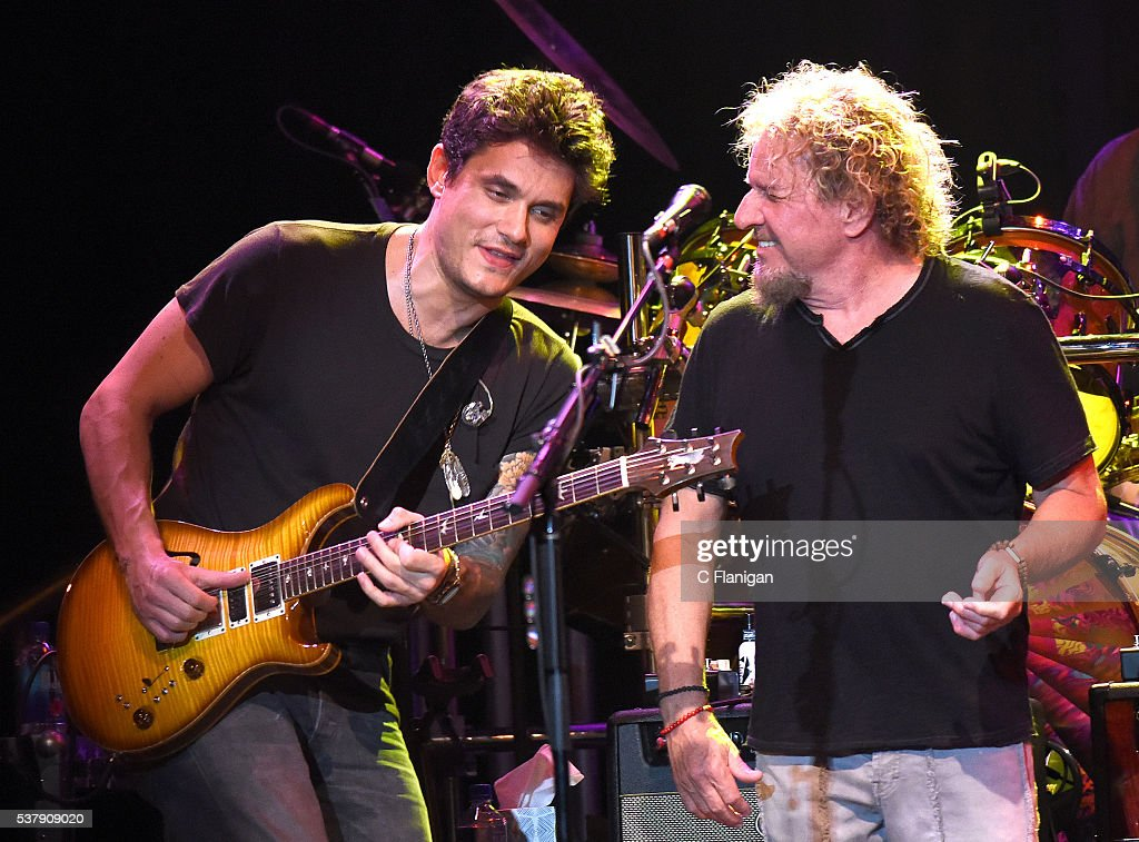 Sammy Hagar performs with John Mayer of Dead & Company during the 'Pay it Forward' concert at The Fillmore on May 23, 2016 in San Francisco, California.