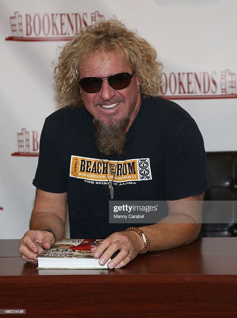Sammy Hagar signs copies of his new book 'Are We Having Any Fun Yet' at Bookends Bookstore on September 14 2015 in Ridgewood New Jersey