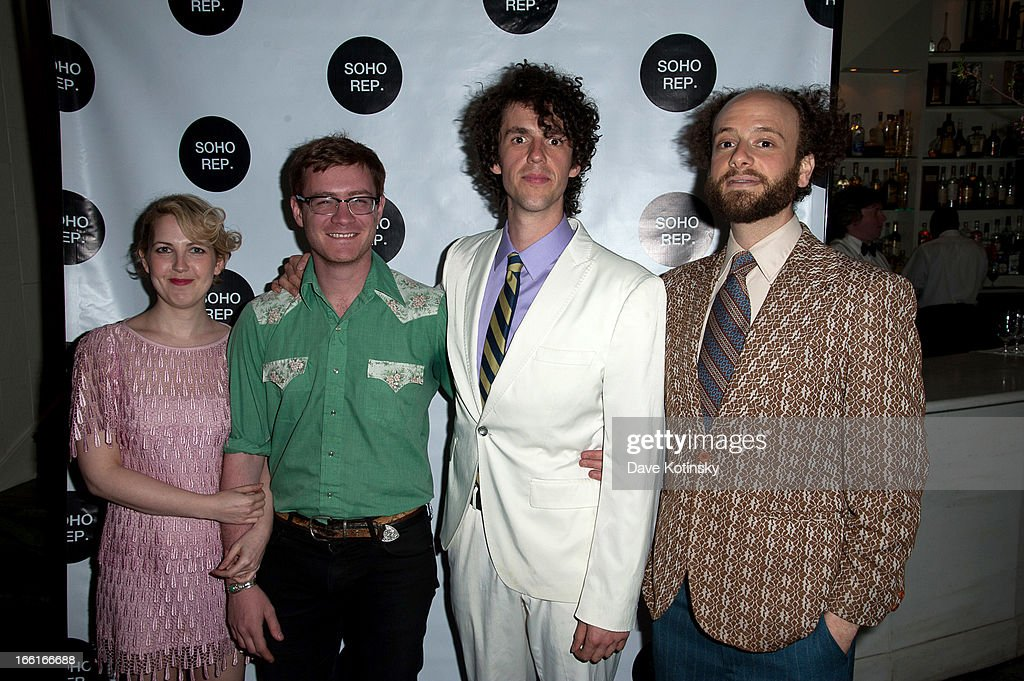 Sammy Tunis, Lorenzo Wolff, Cesear Alvarez and Eric Farber of The Lisps attend Soho Rep's 2013 Spring Gala on April 8, 2013 in New York, United States.