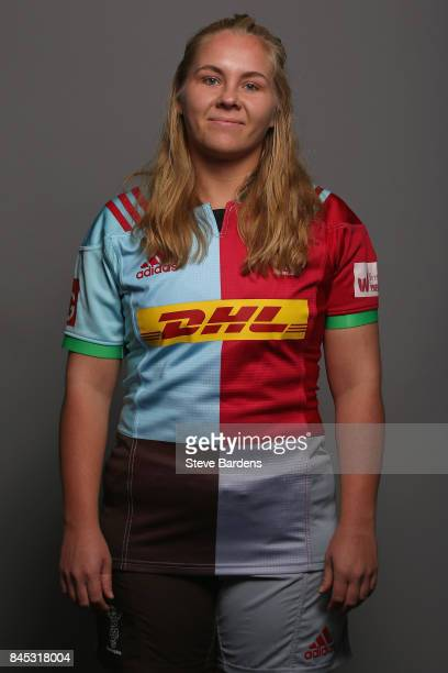 Sammy Voyle of Harlequins Ladies poses for a portrait during the Harlequins Ladies Squad Photo call for the 2017/18 Tyrrells Premier 15s Season at...