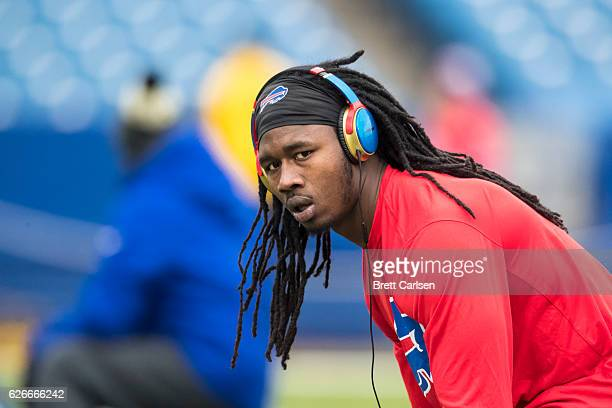 Sammy Watkins of the Buffalo Bills warms up before the game against the Jacksonville Jaguars on November 27 2016 at New Era Field in Orchard Park New...