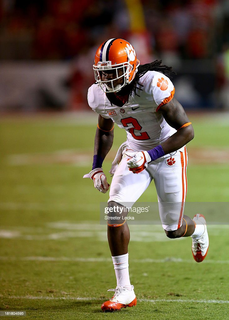 Sammy Watkins #2 of the Clemson Tigers during their game at Carter-Finley Stadium on September 19, 2013 in Raleigh, North Carolina.