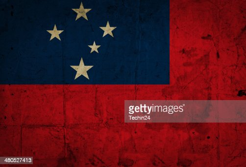 Samoa Flag : Stock Photo