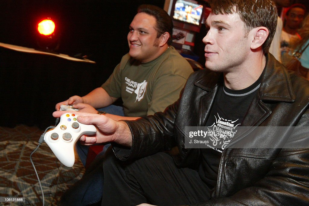 Samoa Joe of TNA and Forrest Griffin of UFC during GameStop's Charity  Challenge-Celebrity Match