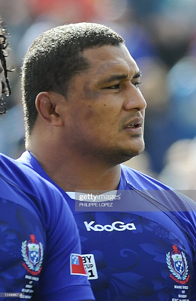 Samoa's <a gi-track='captionPersonalityLinkClicked' href=/galleries/search?phrase=Sakaria+Taulafo&family=editorial&specificpeople=6532773 ng-click='$event.stopPropagation()'>Sakaria Taulafo</a> poses before the 2011 Rugby World Cup pool D match between Samoa and Namibia at the Rotorua international stadium on September 14, 2011. AFP PHOTO / PHILIPPE LOPEZ