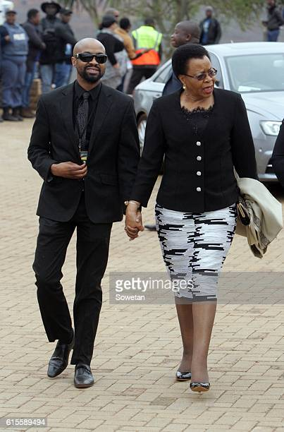 Samora Machels widow Graca and her son Malengani during the 30th commemoration of Samora Machels death on October 17 2016 in Mpumalanga South Africa...
