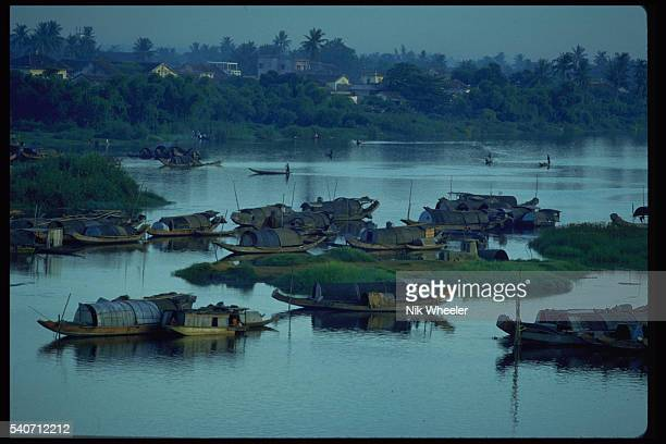 Sampans on the Perfume River