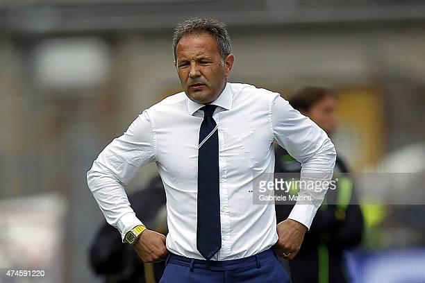 Sampdoria head coach Sinisa Mihajlovic reacts during the Serie A match between Empoli FC and UC Sampdoria at Stadio Carlo Castellani on May 24 2015...