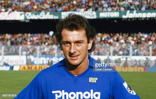 Sampdoria player Trevor Francis pictured before a game against Napoli circa 1984