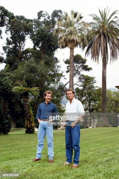 Sampdoria players Trevor Francis and Graeme Souness relax in Genoa circa 1984